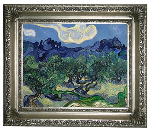 Historic Art Gallery The Olive Trees 1889 by Vincent Van Gogh Framed Canvas Print 8