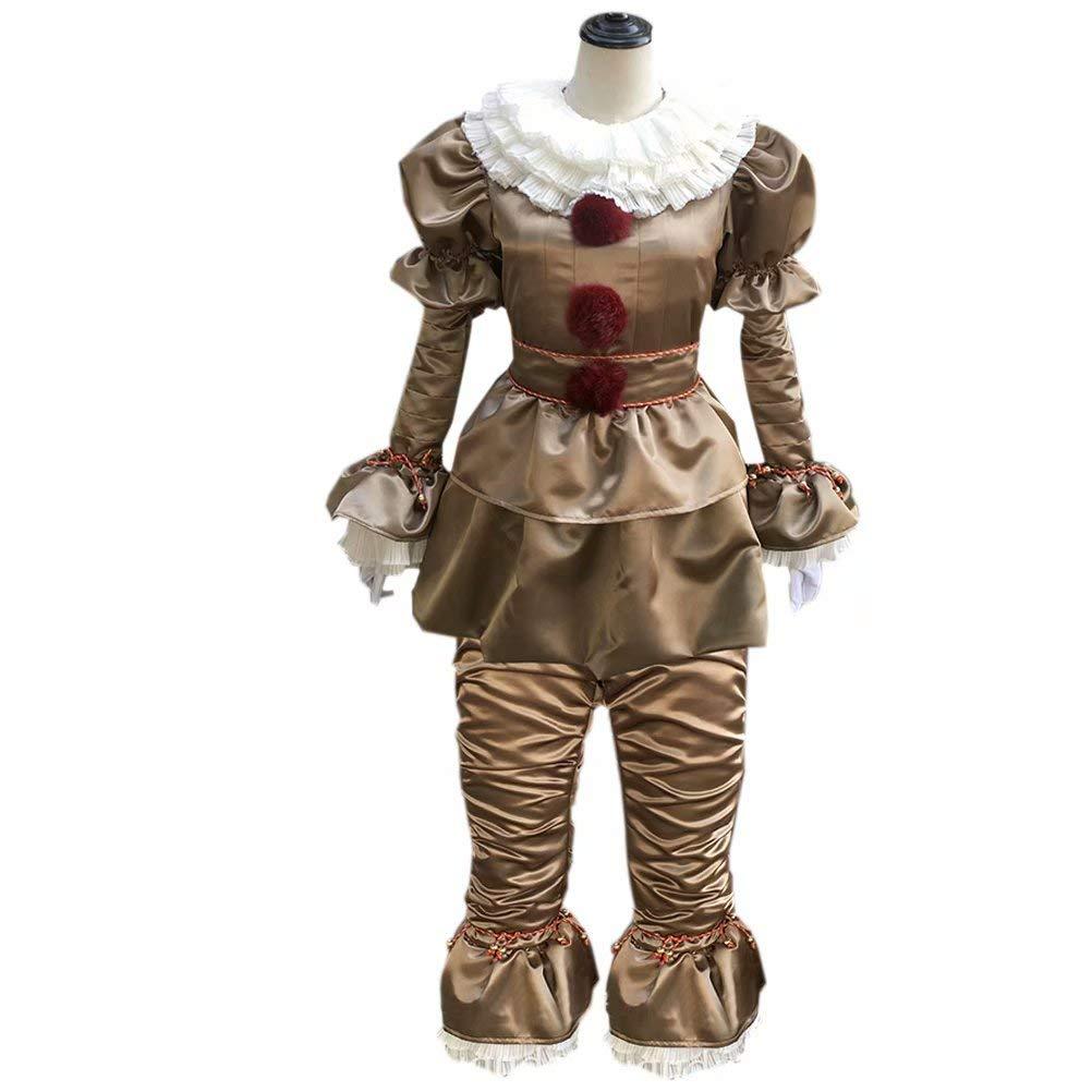 HRDavid HRDavid HRDavid IT Pennywise Halloween Clown Cosplay Kost¨¹m Ultimate Silber XXXL 37e312