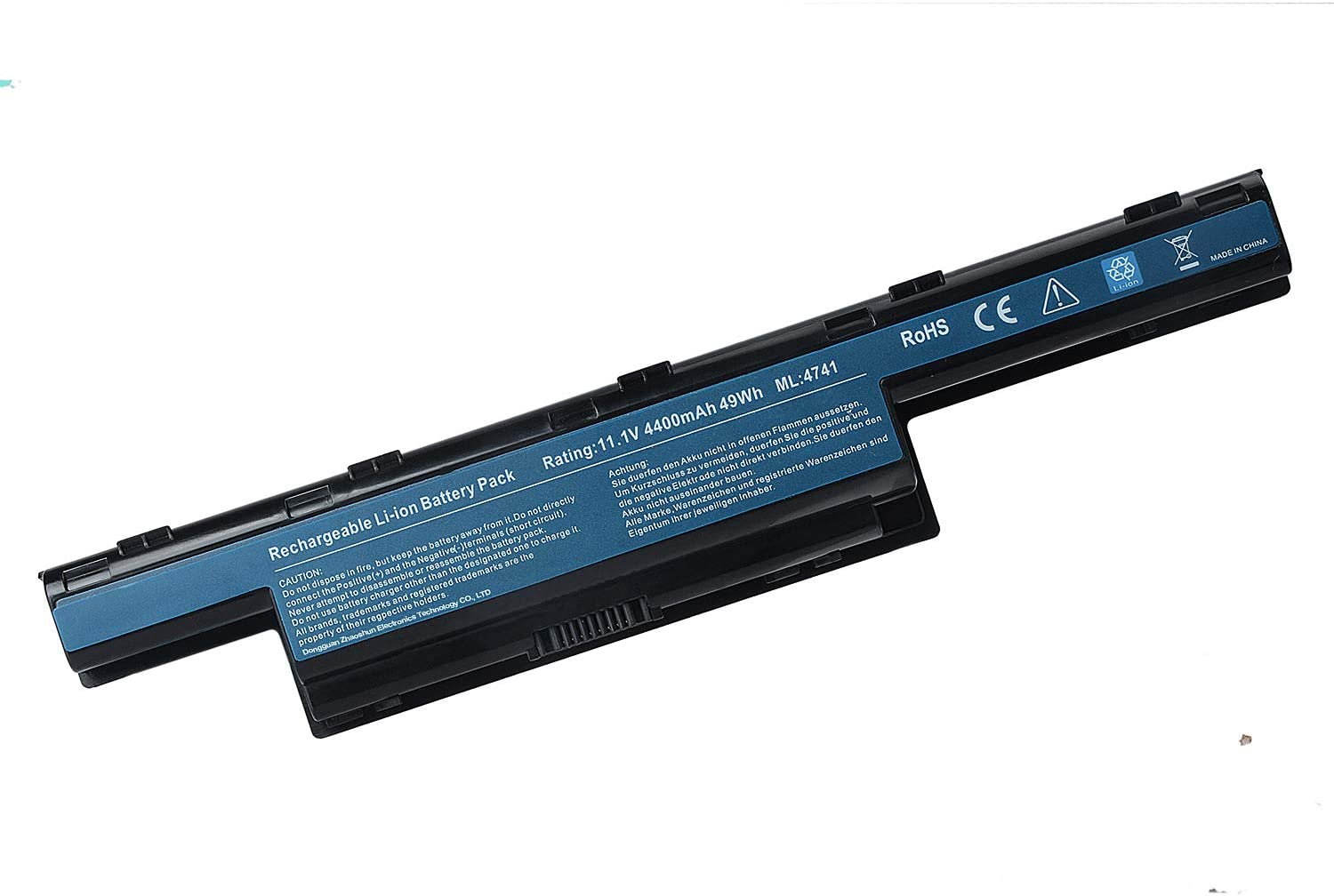 BND AS10D31 AS10D51 Laptop Battery for Acer/Gateway NV55C NV59C NV50A NV53 NV53A NE56R41U NE56R31U NV55C03U NV53A24U NV56R - 12 Months Warranty [6-Cell 4400mAh/49Wh]