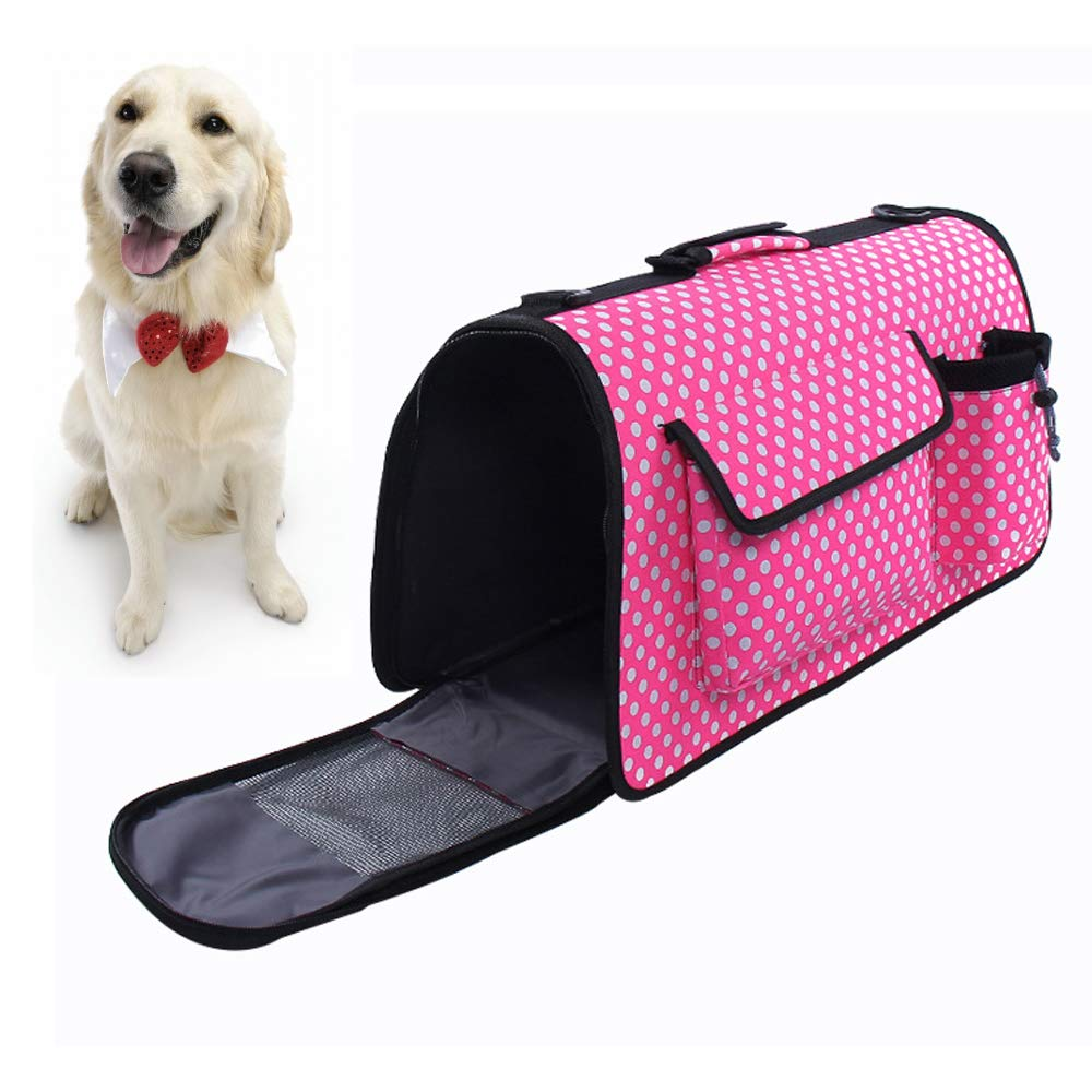 Portable pet Backpack, Travel Breathable Backpack, cat and Puppy,Pink