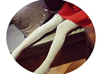 WSR Pantimedias para Mujeres Niñas Regalos, Calcetines de Encaje Otoño E Invierno Seda Sexy Bordado