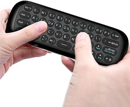 ELAINE Mini Teclado, Smart TV Wireless Keyboard Fly Mouse W1 Control Remoto Multifuncional para Android TV Box/PC / Smart TV/Projector / HTPC/PC / TV Todo en uno: Amazon.es: Electrónica