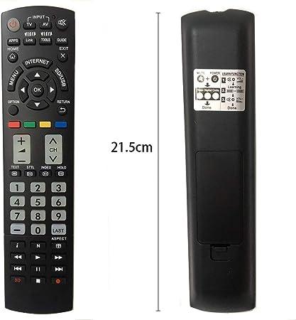 Panasonic - Mando a distancia universal para televisor Panasonic TV/VIERA Link/HDTV/3D/LCD/LED/APPS/HOME, no requiere configuración, N2QAYB000487 N2QAYB000780 N2QAYB000752: Amazon.es: Electrónica