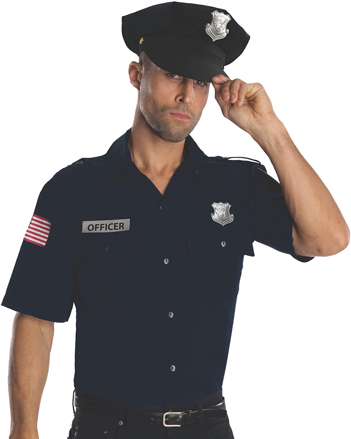 Rubie's Costume Heroes And Hombres Police Uniform Shirt And Hat Costume