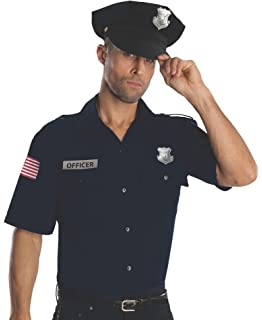 79122e3c99d Rubie s Costume Heroes And Hombres Police Uniform Shirt And Hat Costume