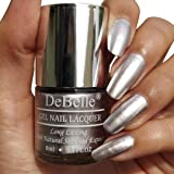 DeBelle Gel Nail Lacquer Chrome Silver 8 ml -(Metallic Silver Nail Polish)