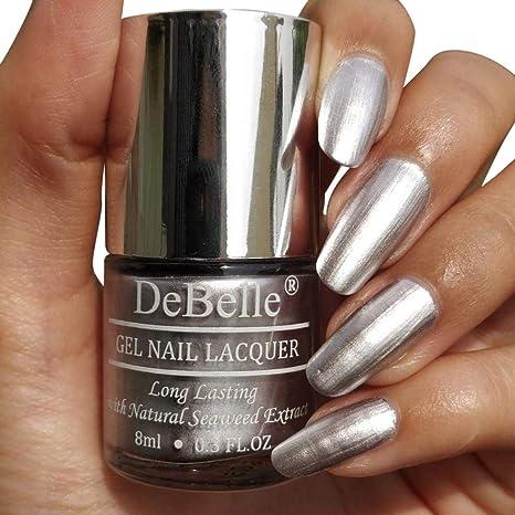 Buy DeBelle Metallic Silver Nail Polish 8 ml - (Chrome Silver ...