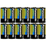 Panasonic CR123A-12PK Lithium 3V Photo Lithium Battery, 0.67'' Diameter x 1.36'' H (17.0 mm x 34.5 mm), black/Gold/Blue (Pack of 12)