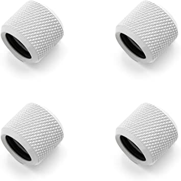 White for Use with Barrow Rigid Tubing Only Barrow G1//4 to 12mm Hard Tubing Compression Fitting 4-Pack