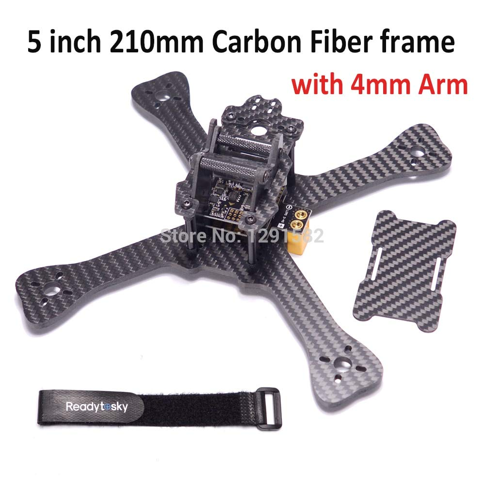 Laliva Mini 210 210mm 5 inch Quadcopter Frame with 4mm arm 3K Pure Carbon Fiber for GEPTX Better Than QAVX 214