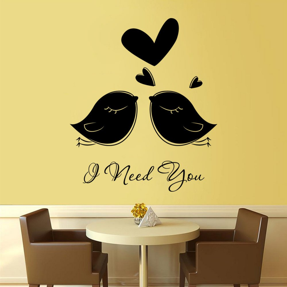Amazon.com: Generic Love Bird Wall Stickers for Teens Wall Decal ...