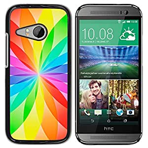 MOBMART Carcasa Funda Case Cover Armor Shell PARA HTC ONE MINI 2 / M8 MINI - Star Filled Colors Of The Rainbow