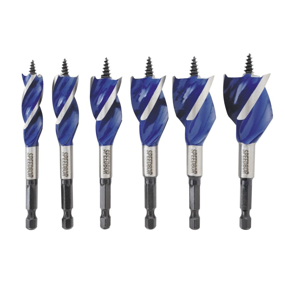 Speedbor 1877239 IRWIN Tools Max Wood Drilling Bits, 4-Inch, 6-Piece