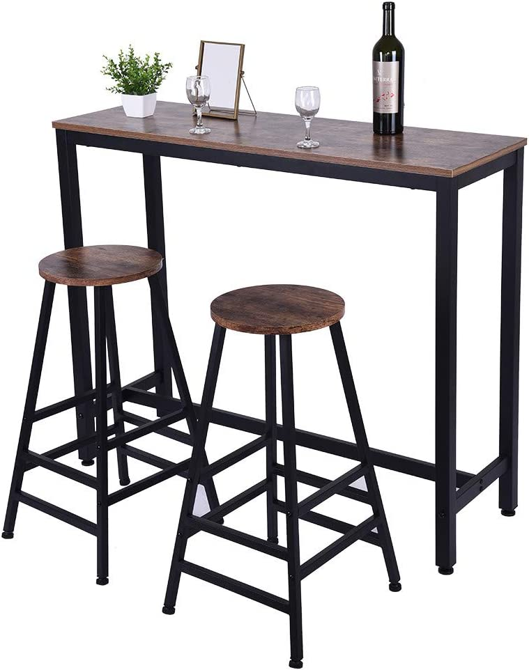 Amazon Com Yinjishop Home Bar High Table Household Pub Table Counter Height Dining Table For Kitchen Nook Dining Room Tables