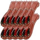 Bass Rockers 17ft Interconnect RCA Audio Cables (Bulk 10 Pack) - BRC17