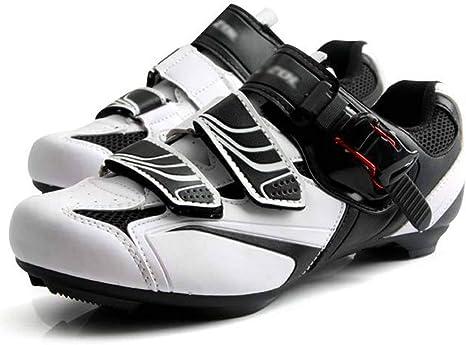 WTSXXN Zapatillas de Ciclismo Bicicleta de Carretera para Hombre ...