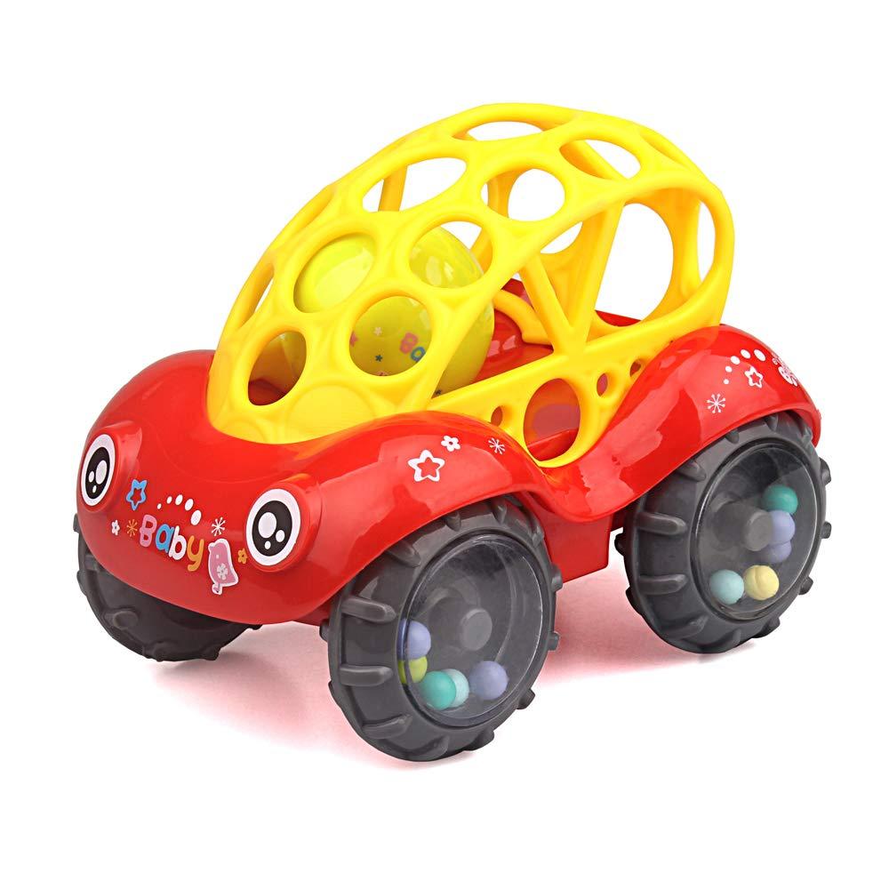 ZHFUYS ラトル&ロールカー 6~12ヶ月 赤ちゃん用おもちゃ 5インチ 男の子 女の子用 幼児用おもちゃ   B07PF256DK