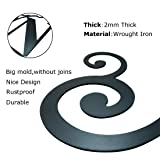 SIGMALL 24 Inch House Plaque Letter - Wrought Iron