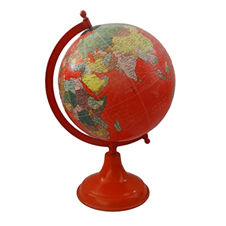 World globe round shape 8 world map red plastic ball 13 tall world globe round shape 8 world map red plastic ball 13 tall standing globe gumiabroncs Image collections