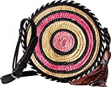 Rebecca Minkoff Women's Straw Circle Cross Body Bag, Pink Multi, One Size