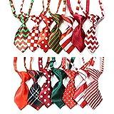 Yagopet 10pcs/pack Christmas Small Cat Dog Ties
