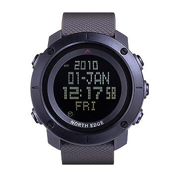 Lixada Al Aire Libre de Los Hombres 50m Impermeable Digital Deportes Reloj Corriendo Reloj De Pulsera Cronómetro Mundial Tiempo: Amazon.es: Deportes y aire ...