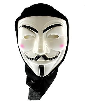 Zacs Alter Ego® Máscara de Guy Fawkes de V de Vendetta con tela de color