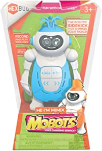 HEXBUG MoBots Mimix - Recording and Talking Robot Kit with Sound and Flexible Body - Smart Interactive Educational Toys for Kids - Ages 3+ - Batteries Included (Colors and Styles May Vary)