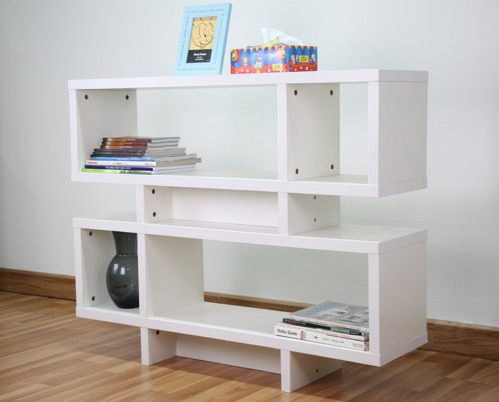 Mintra Corporation White Finished 44-inch Wide Wooden Leaning Shelf