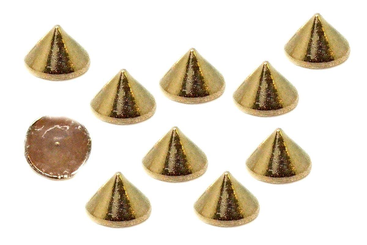 EIMASS® Premium Alloy Spike Cone Hot Fix Iron on Studs DIY Craft Glue Fix Stud