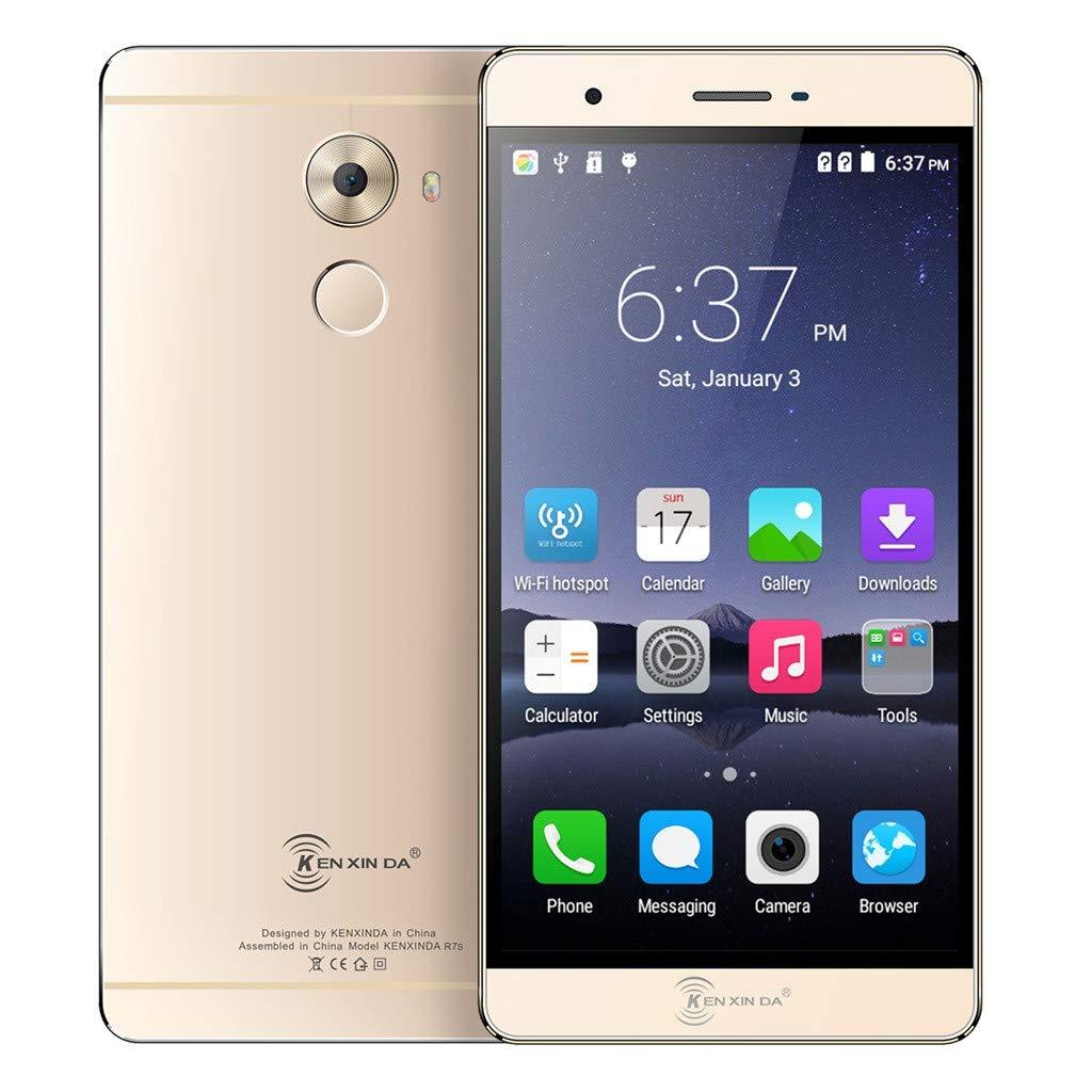 KENXINDA R7S 5.5Inch MTK6753 2+16G 2650mAh Sunsee WiFi GPS Smartphone Cellphone US (Gold, Dimensions 150.2x76.3x8.5mm)