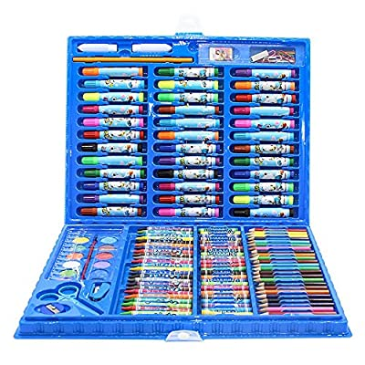 Painting & Drawing Set Children's Watercolor Pen Set Painting Stationery 150 Sets of Elementary School Art Tools Crayon Watercolor Pen Combination Watercolor Pens