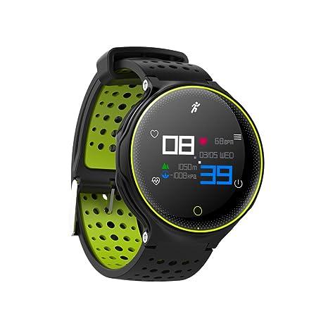 Rastreador de relojes inteligente iPhone XR, elecfan presión arterial Ritmo cardíaco Monitor de podómetro Detección