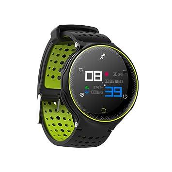 Rastreador de relojes inteligente iPhone XR, elecfan presión arterial Ritmo cardíaco Monitor de podómetro Detección de sueño, Pantalla colorida para mujeres ...