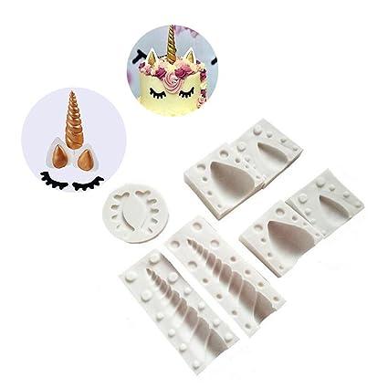 Amazon Com Set Of 7 Candy Making Molds Unicorn Horn Silicone Mold