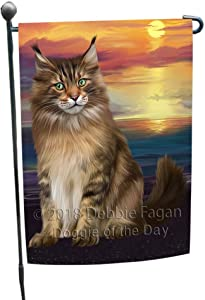 Doggie of the Day Maine Coon Cat Garden Flag GFLG51755