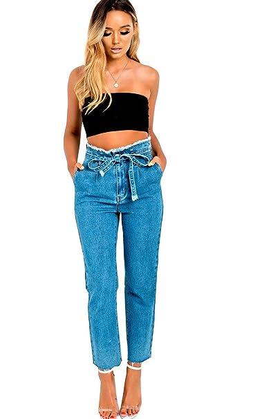 Amazon.com: IKRUSH Bernie - Pantalones vaqueros para mujer ...