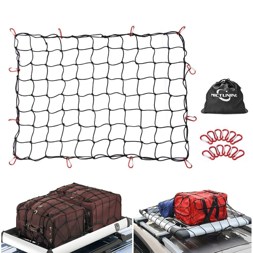 MICTUNING - Rete per bagagli, rete per bagagliaio dell'auto, rete cargo rete per bagagliaio dell' auto