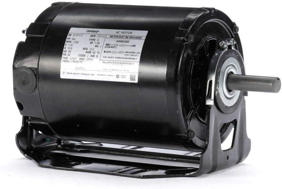 3/4 hp 1725 RPM 56 Frame 115V Belt Drive Furnace Motor Century # GK2074