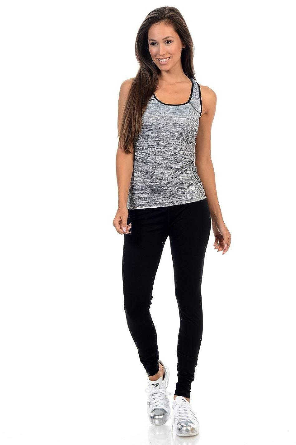 Style ACDN002-2 Diamante Womens Yoga Top Sportswear