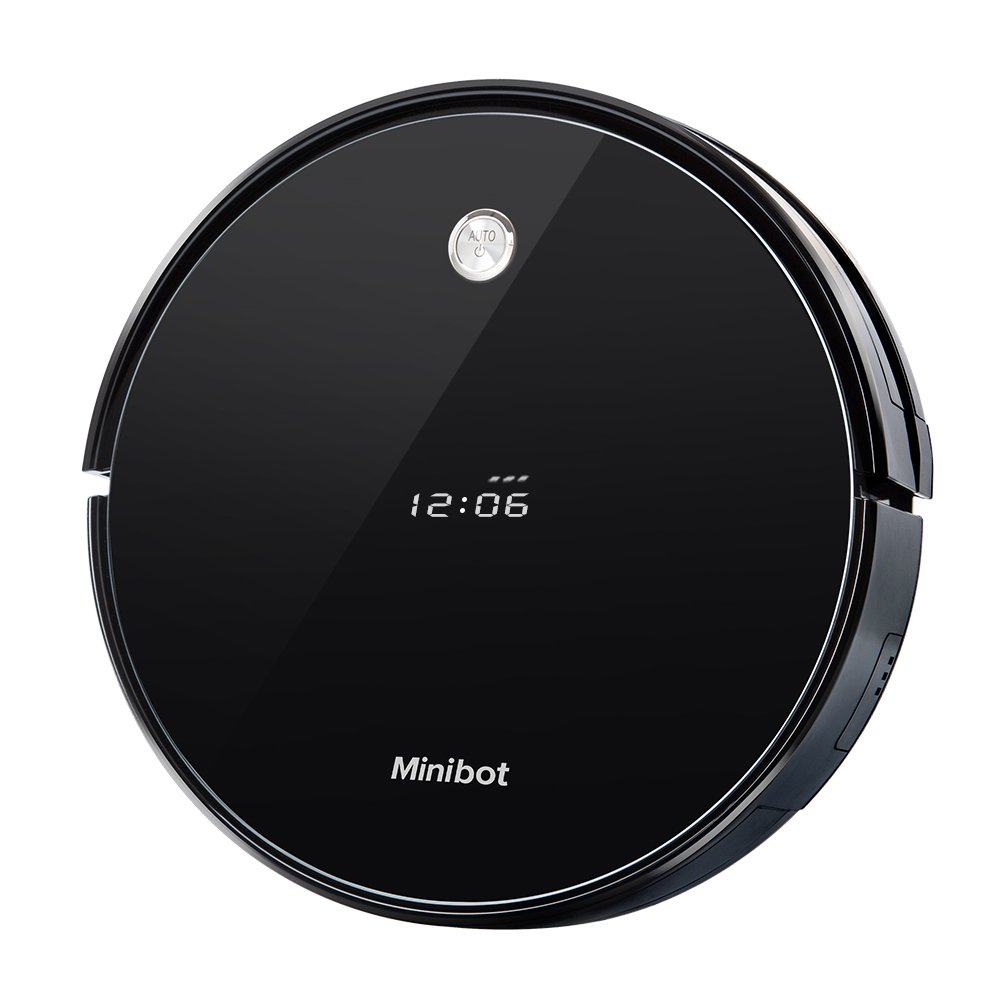 Minibot X5 Robot Vacuum Cleaner For Hard Wood Tile Rugs Thin Carpets Pet Hairs Mopping Robots Black