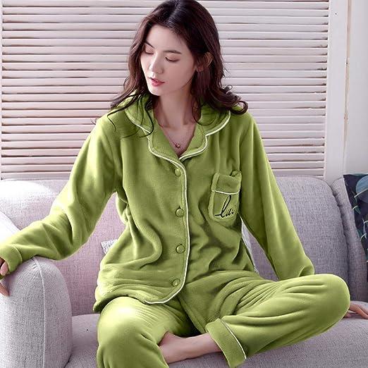 Bayrick Pijama de Hombre Invierno Polar,Pijamas Damas chándal de ...