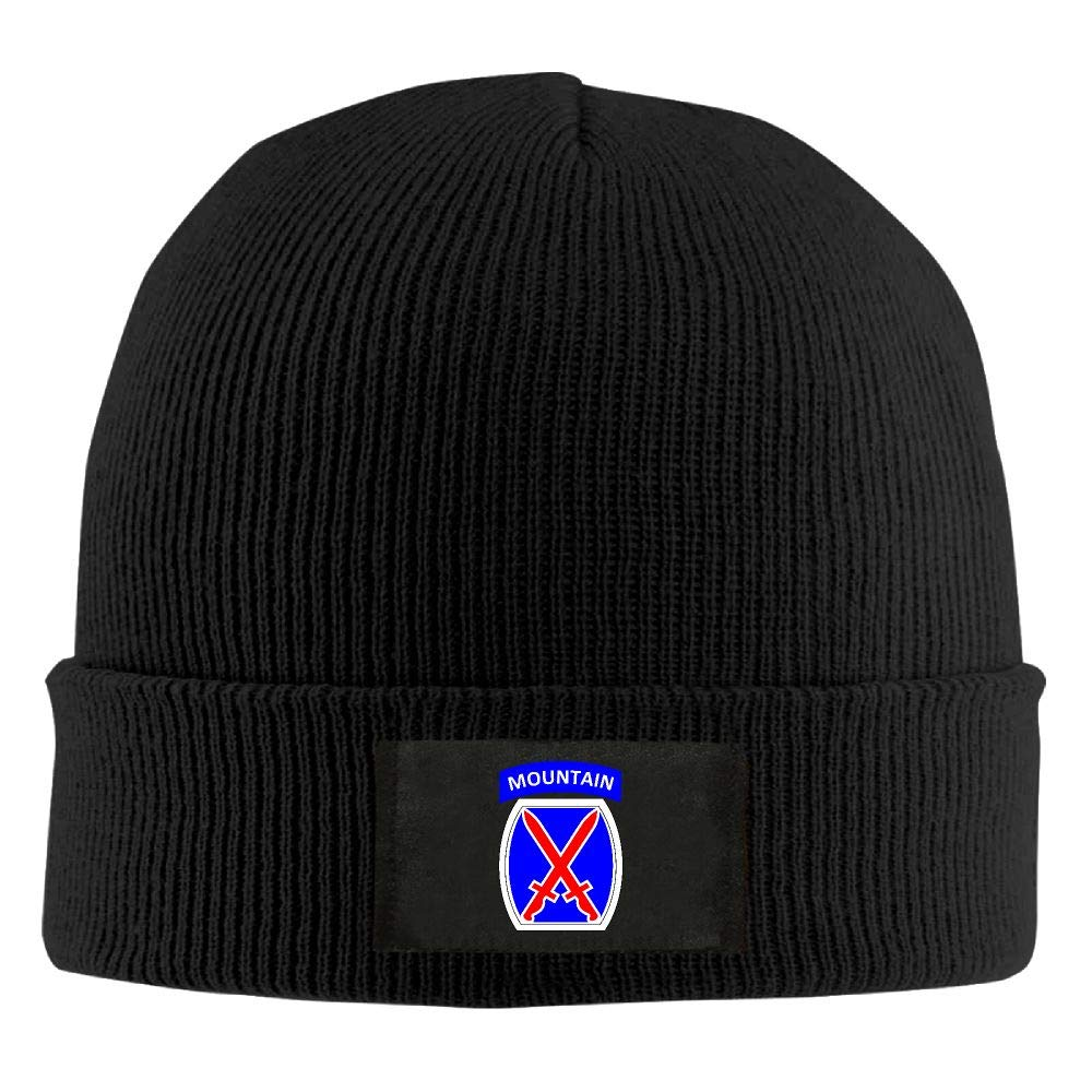 FORDSAN CP Proud Army 10th Infantry Division Mens Beanie Cap Skull Cap Winter Warm Knitting Hats.