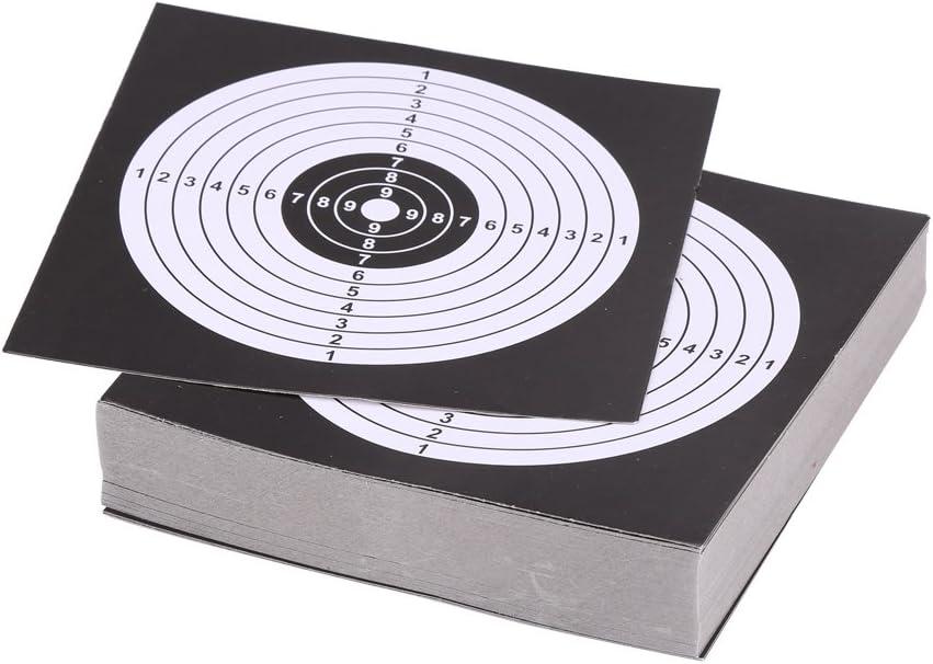 ペーパーターゲットホルダー14 cmシューティングターゲットトラップホルダーペレットトラップFunnelキャッチャーボックスアーチェリー弓矢印狩猟の練習トレーナー 100PCS Practice Paper 黒