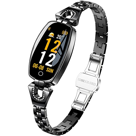 ac15fdbc2 Image Unavailable. Image not available for. Color: Women's Smart Watch,  Pard Fashion Heart Rate Blood Pressure Activity Fitness Tracker ...