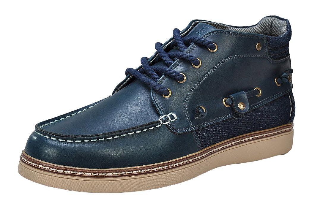 Serene - Zapatillas de vela de Piel para hombre Azul azul marino: Amazon.es: Zapatos y complementos