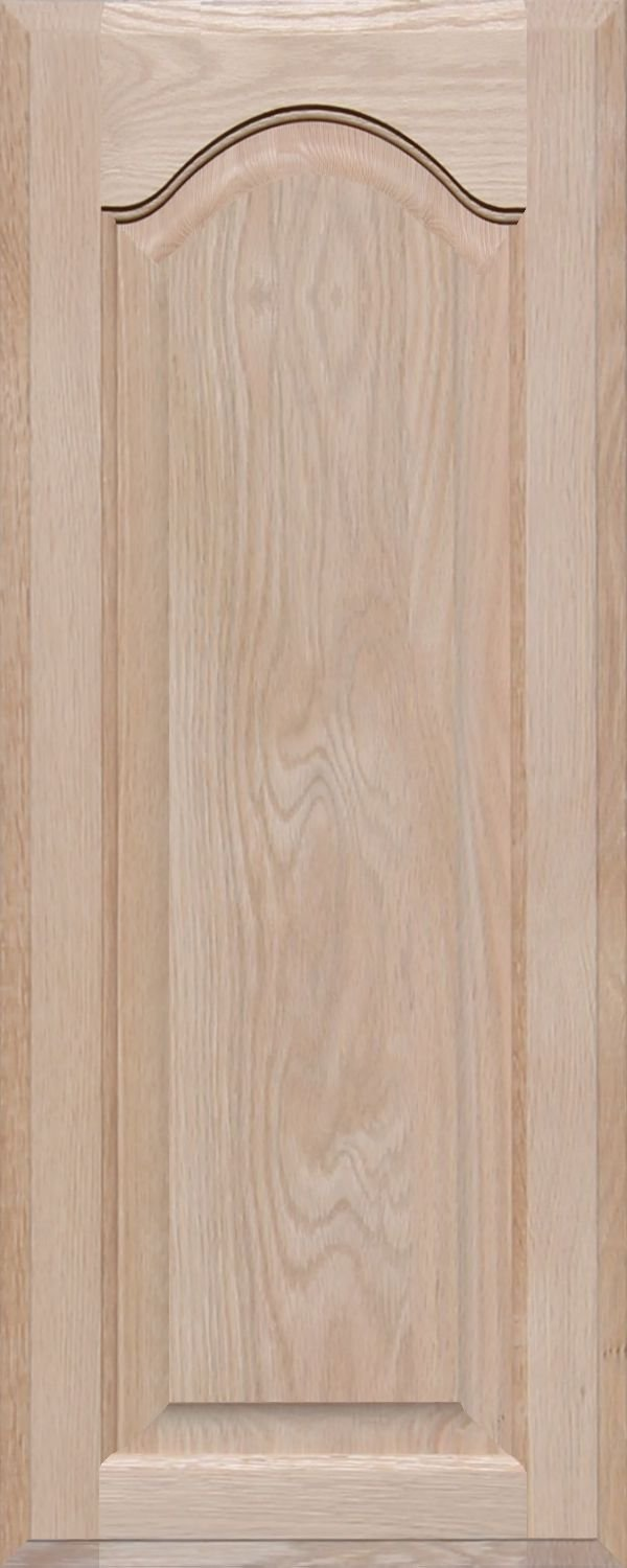 Unfinished Oak Arch Top Cabinet Door by Kendor, 30H x 12W