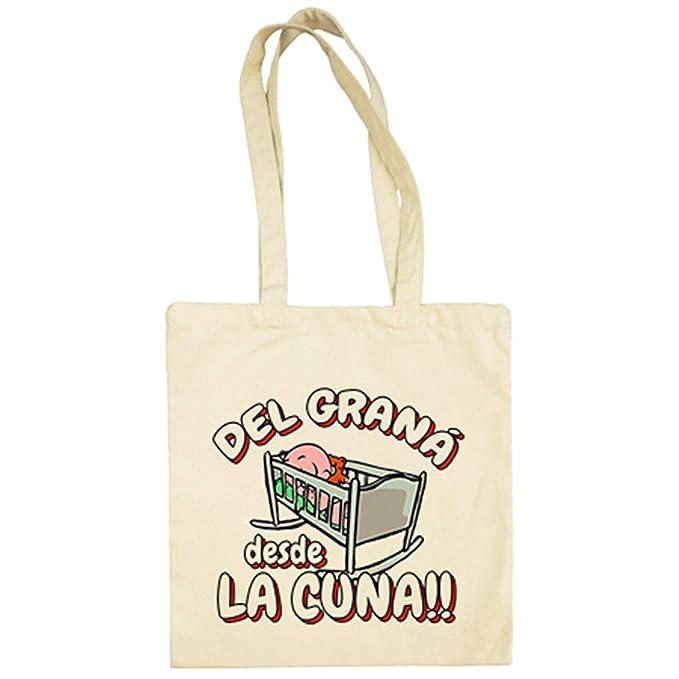 Bolsa de tela del Graná desde la cuna Granada fútbol - Beige, 38 x 42 cm: Amazon.es: Ropa y accesorios