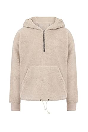 c1888626 ONCEGALA Streetwear Hip-hop Oversized Half Zipper Pullover Fleece Sherpa  Hoodies Men Plus Size S-XL at Amazon Men's Clothing store: