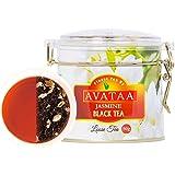 Avataa Jasmine Black Tea: High Grown Ceylon Tea with Dehydrated Jasmine Flowers (50 Gram/25 Cups)